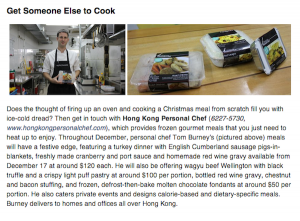 Last Minute Christmas Preparation Tips – HK Mag – Dec 2012