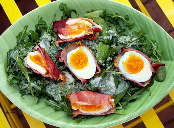 Eggs-and-salad Food Pairings Suggestions